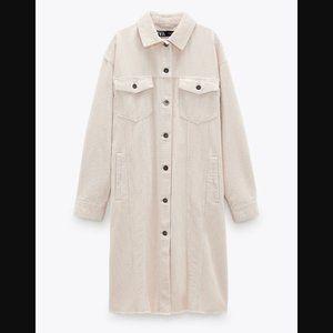 🔥MOVING SALE🔥NEW ZARA CORDUROY Shirt Jacket XS